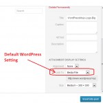WordPress – How to Change Image Attachments Default Link