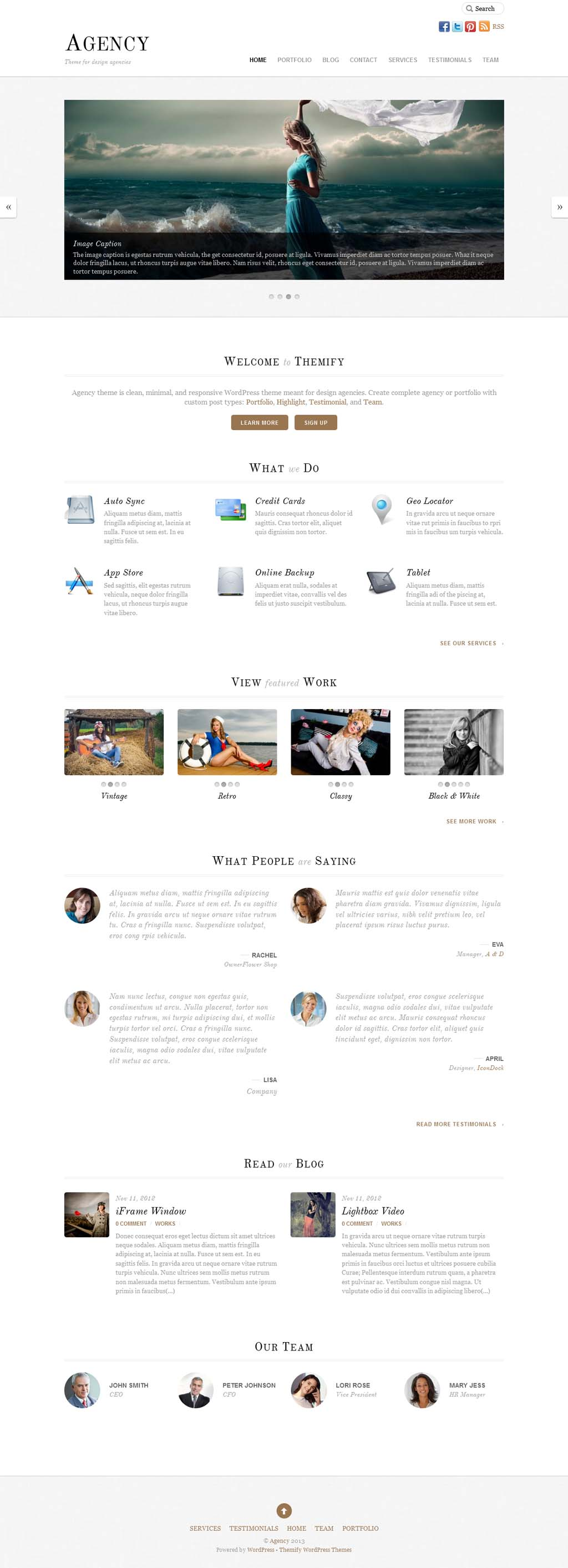 Agency Responsive Business Theme