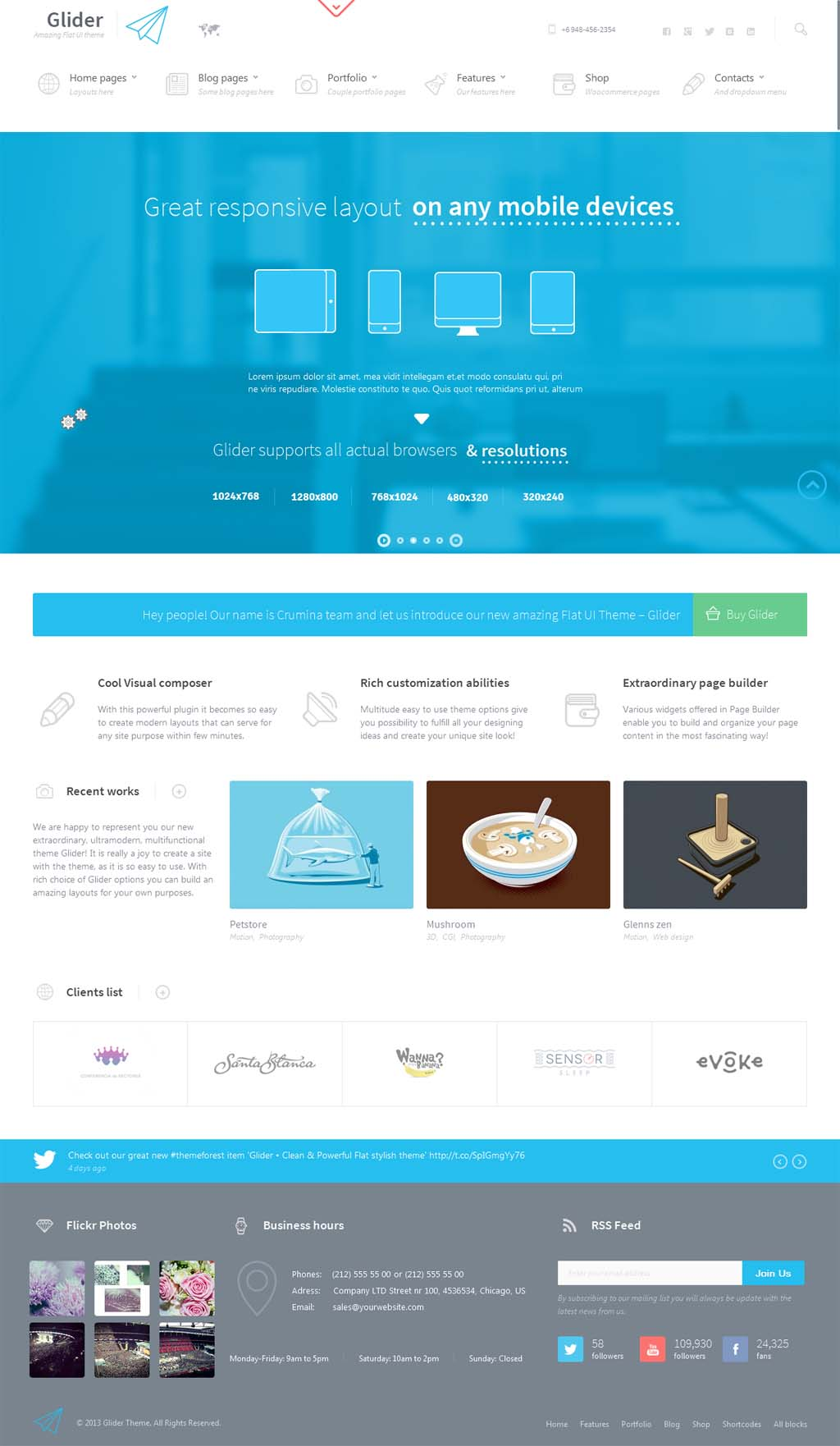 Glider Responsive Business Theme