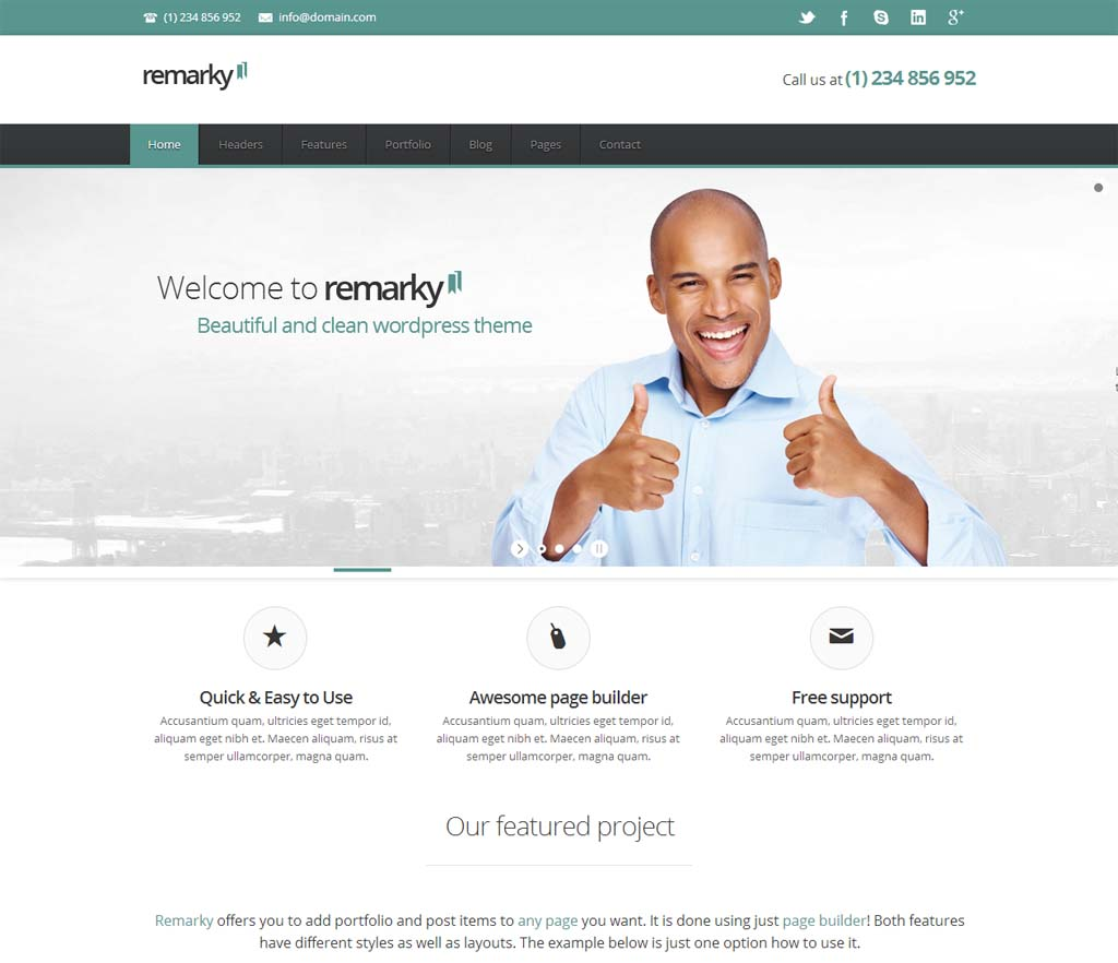 Remarky Responsive Business Theme
