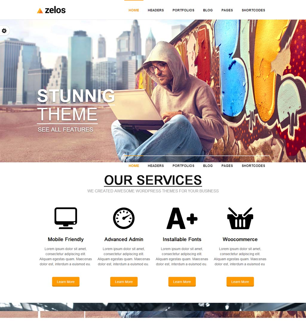 Zelos Responsive Business Theme